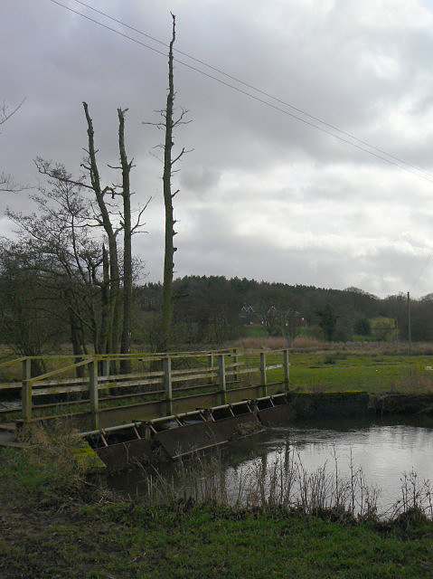 Footbridge over the River Blithe