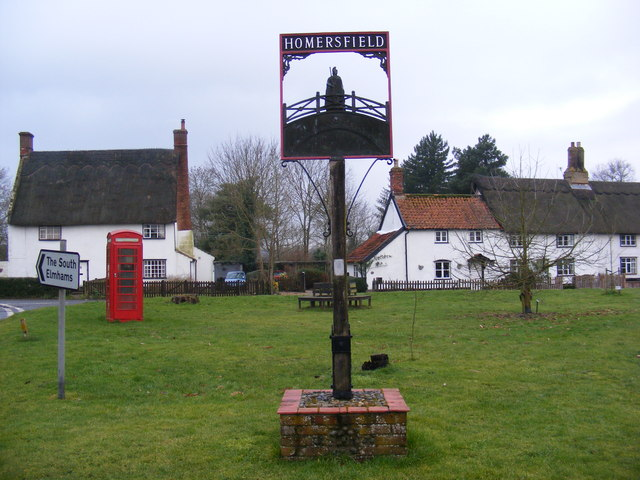 Homersfield Village Sign