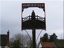 TM2885 : Homersfield Village Sign by Adrian Cable