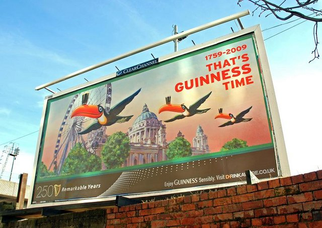 Guinness 250th anniversary poster, Belfast