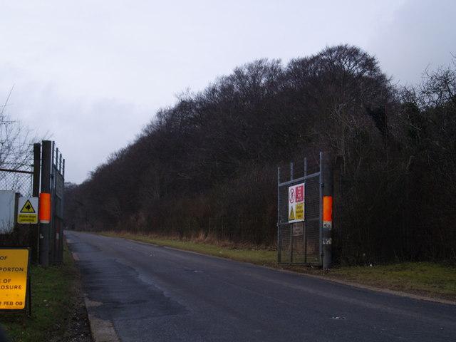 Gate leading on to Porton Down