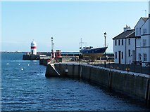 SC2667 : Quayside houses and harbour entrance, Castletown by David Martin