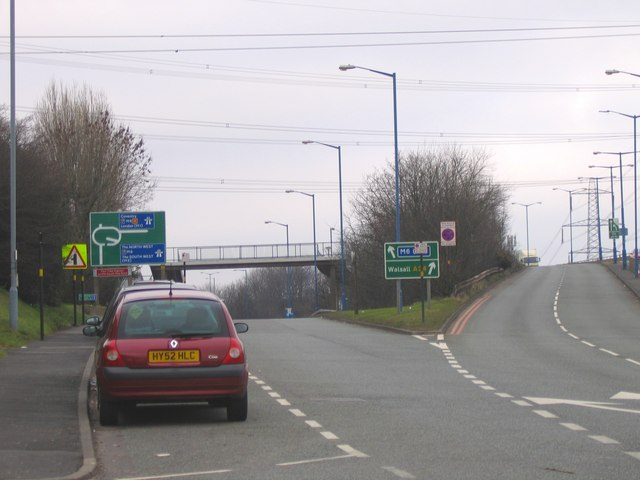 M6 Junction 7 from Walsall Road