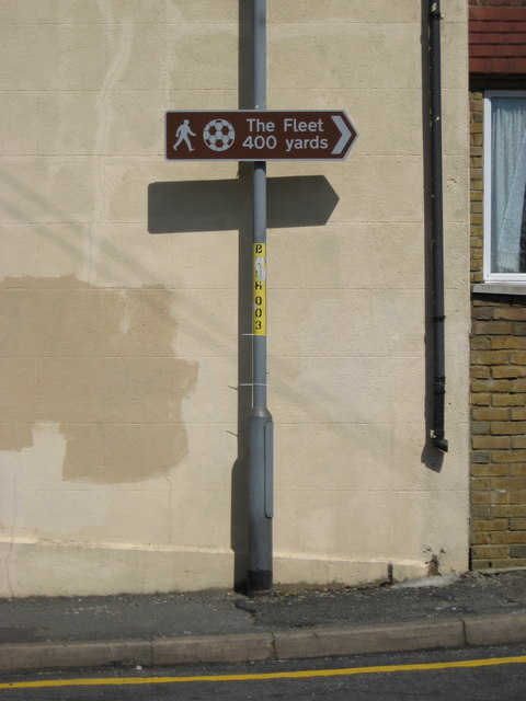 Road Sign to Ebbsfleet United FC
