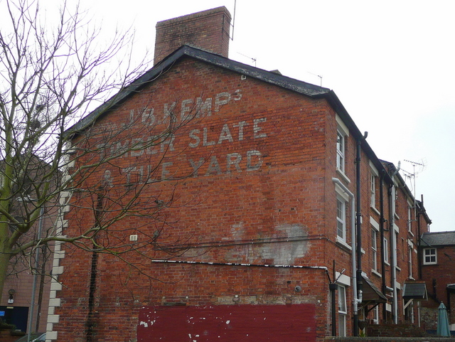 Old timber yard sign; Ross-on-Wye