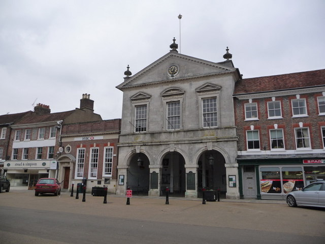 Blandford Forum: marketplace and town hall