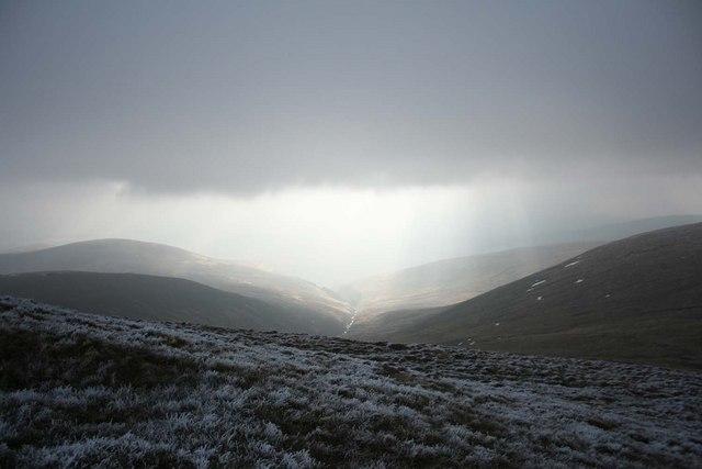 Sunshine tries to break through onto Attychraan Valley in County Limerick