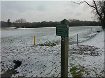 SZ1394 : Iford Golf Centre, warning sign by Mike Faherty