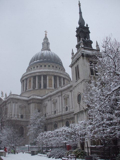 St Pauls on a snowy day