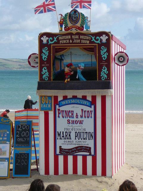 'Punch & Judy' Show, Weymouth Beach.