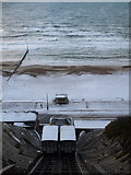 SZ0990 : Bournemouth: East Cliff Lift in snow by Chris Downer