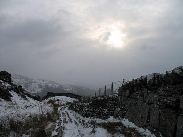 Track from Llyn Tecwyn