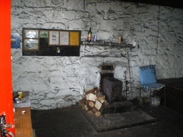 Part of the interior of the bothy