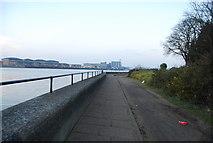 TQ7568 : Riverside walkway, River Medway, Chatham by N Chadwick