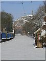 SK3454 : Tramway Street in the snow by Alan Murray-Rust