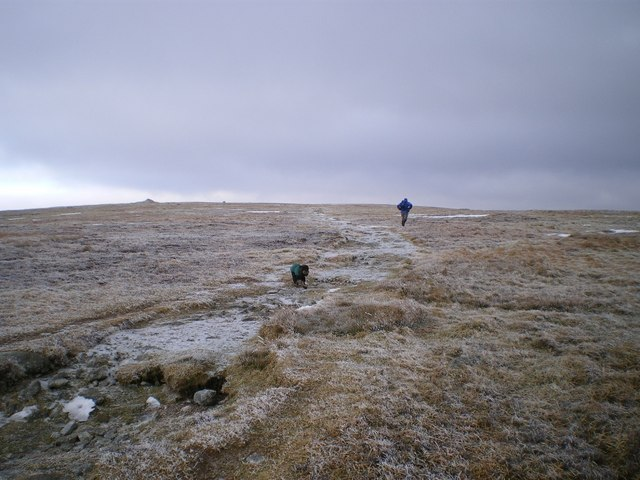 Icy conditions just below the top of Cairnsmore