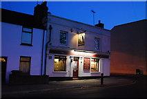 TQ7668 : The Falcon Inn, Marlborough Rd in the gloaming by N Chadwick
