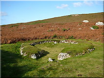 SH2181 : Hut circle, Holyhead Mountain. by Colin Park