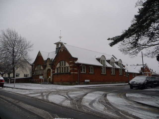 Winton: the library in snow