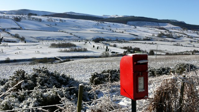 Postbox on Gravelly Bank, Rothbury