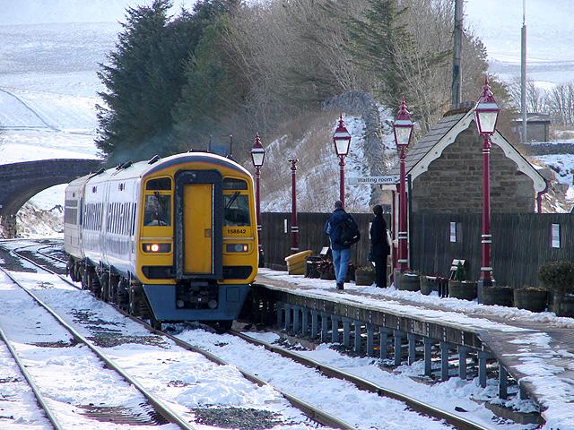 A Carlisle bound train at Ribblehead