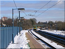 SP0278 : Northfield Station in the Snow by Roy Hughes