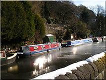 SD9926 : Rochdale Canal in winter by SMJ
