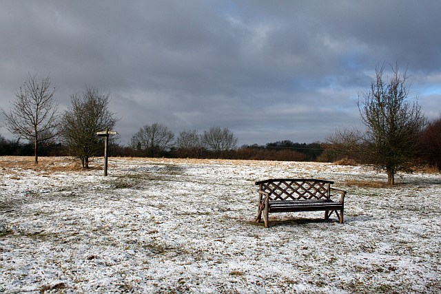 Bench on open space above Capel
