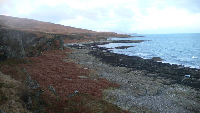 Looking south-west along the coastline of south-west Jura