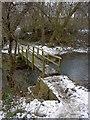 SE3904 : Footbridge across the River Dove by Steve  Fareham