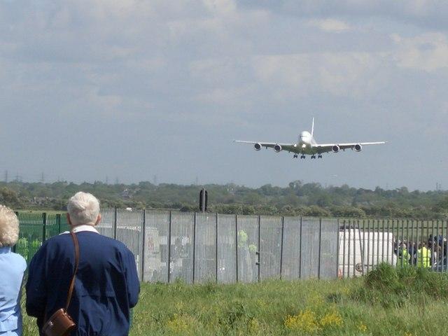 A380..Big silver bird.