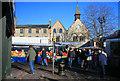 TL8564 : Market day in Bury St Edmunds by Bob Jones