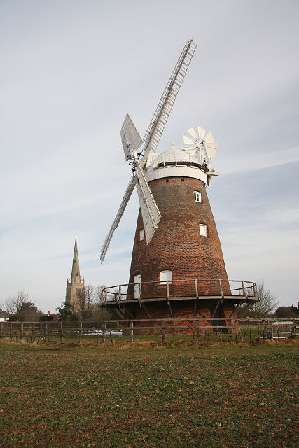 Thaxted Mill and church