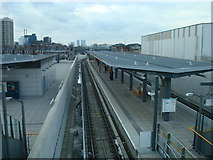 TQ4380 : King George V DLR Station by Stacey Harris