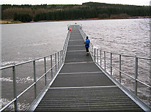 NY6491 : Jetty on Bakethin Reservoir by Rick Crowley