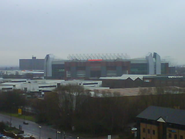 Old Trafford from viewing platform at Imperial War Museum