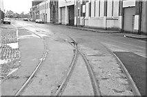 J3475 : Old harbour railway, Belfast by Albert Bridge