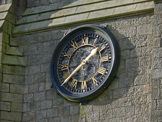 Church clock - St Peter's, Belmont