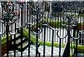 TQ2878 : Wrought Iron Fencing on Buckingham Palace Rd by Nigel Mykura