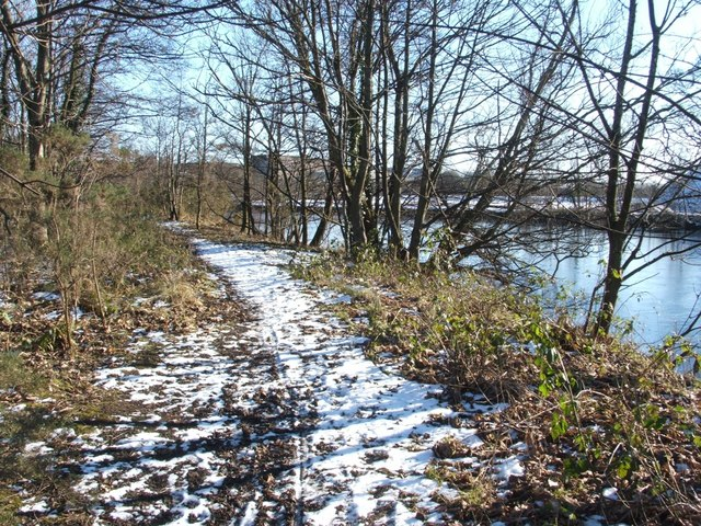 Footpath beside River Leven