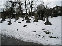 SU9948 : Guildford Cemetery in the snow by Basher Eyre
