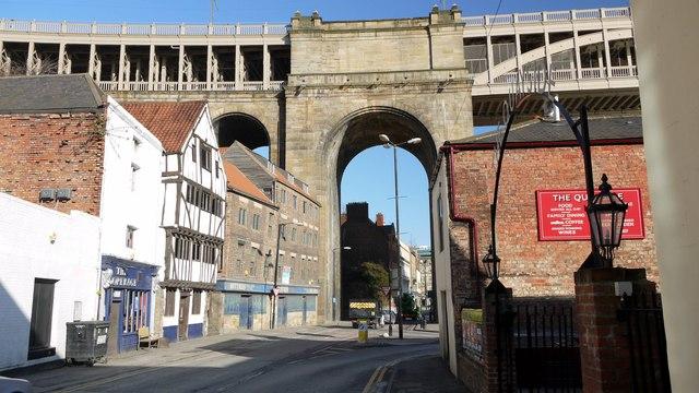High Level Bridge over The Close, Newcastle Quayside