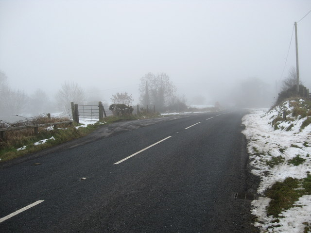 Looking east on the Dromore Road (B2)