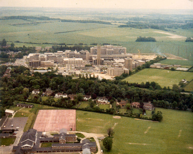 Addenbrookes from the air, 1981 by Keith Edkins