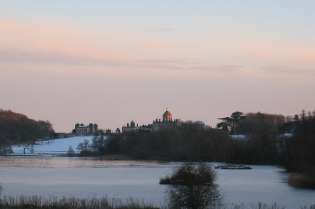 Winter Sunset at Castle Howard