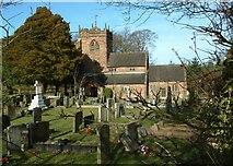 SJ7633 : Broughton church by Simon Huguet