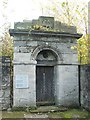 NS3975 : Dumbarton Prison - entrance portico by Lairich Rig