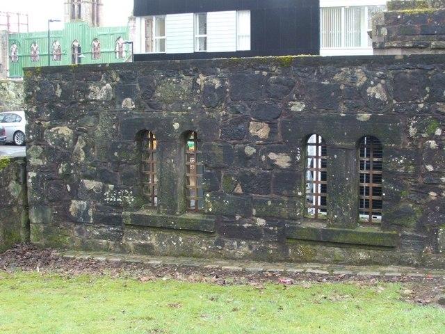 Dumbarton Prison - two original cell windows