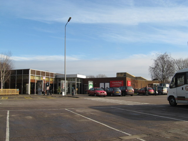 Sandbach Services - View from the northwest
