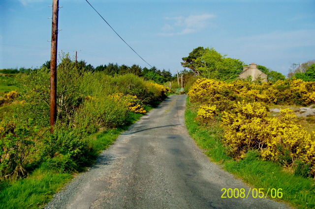 Unmarked road in Rosses Meenbannad area
